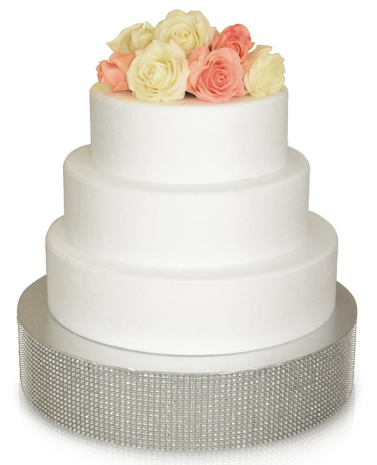 """OCCASIONS"" Wedding Cake Stand Silver/ Gold Rhinestone , Bli"