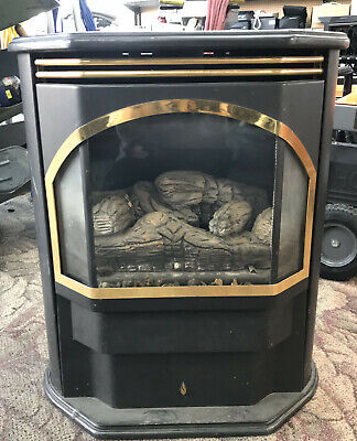 Vented Natural Gas Log Set Fireplace Insert Fire Heater Flu Chimney Indoor Home Fireplace Insert Chimney