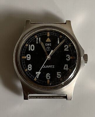 CWC G10 British Military Issued Fat Boy Watch 1980 - Untested, Spares, Repair