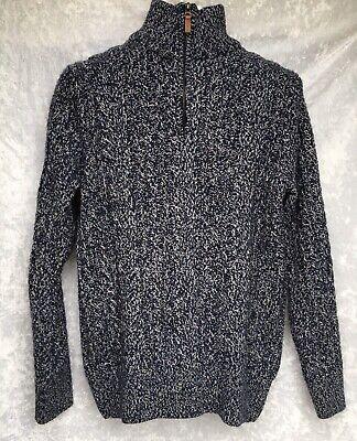 Superdry Premium Knitwear Jumper 1/4 Zip Pullover Sweater Mens See Measurements