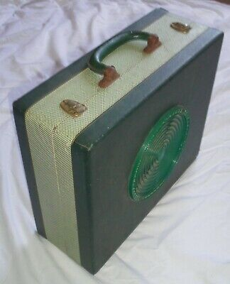 Vintage 50's Portable Record Player with detachable speaker 4 speed WORKING for sale  Shipping to South Africa