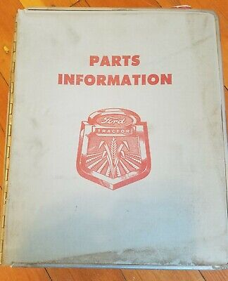 Original 1961 Ford Tractor Parts Information Bound Plus Shop Manual