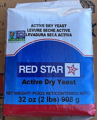 RED STAR ACTIVE DRY YEAST 2 LB (32 oz)-NON GMO- BREAD BAKING BEST FOR  DOUGH