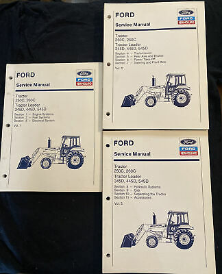 Ford New Holland Tractor 250c260c Loader 345d 445d545d Service Manual 02024