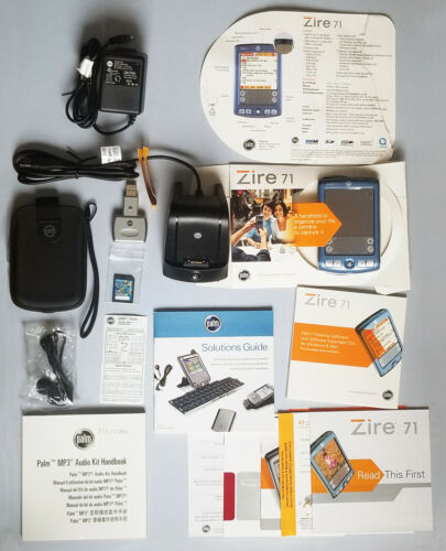 Palm Zire 71 PDA Handheld Pilot Digital Organizer Bundle - Never used