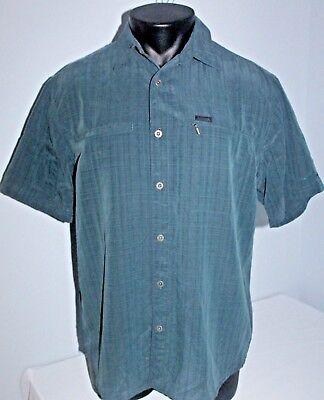 53b300a639a7d Columbia Mens Short Sleeve Dark Green Medium M Shirt Hiking Fishing  Omni-Shade