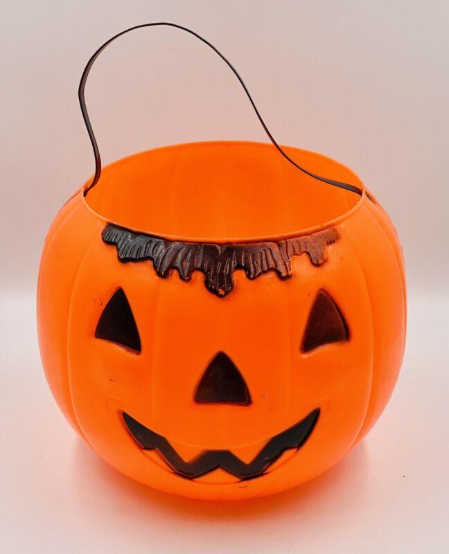 JUMBO Empire Halloween Blow Mold Pumpkin Jack-O-Lantern Bucket Trick-or-Treat