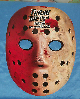 vintage FRIDAY THE 13th PART VII -- THE NEW BLOOD MASK promo promotional