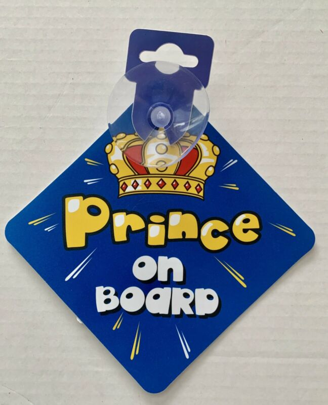 Prince On Board Decall Car Sign Blue
