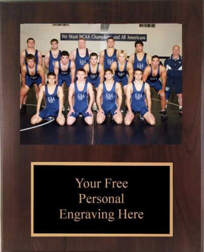 9x12 Personalized Wrestling Coach / Sponser Team Photo Plaque- Free Engraving