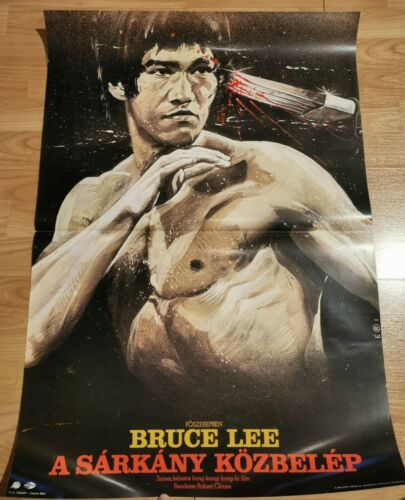Enter the Dragon (Bruce Lee) Hungarian Movie Poster One Sheet (A1) Nice artwork