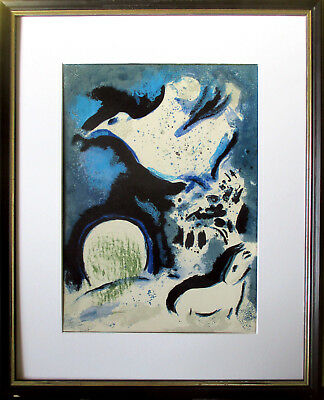 MARC CHAGALL >Drawings for the Bible< Origin.-Farblitho, Verve 37-38 1960, 36x26