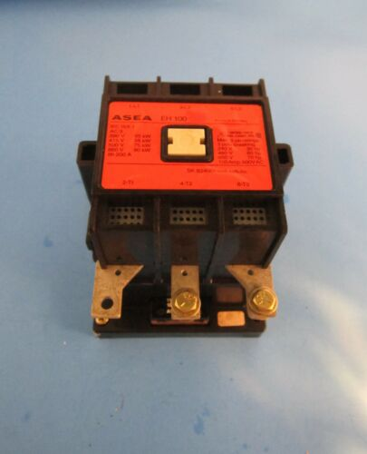 Asea Type EH 100 Size 3 Contactor 105 Amp 600 Vac 120 Volt Coil Aux Contact