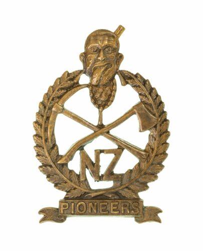 New Zealand Pioneers Cap Badge Brass Metal