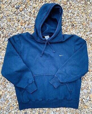 Mens Nike Hoodie Jumper Size L Large Navy Blue