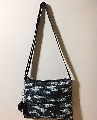 🌻 Brand New! Great KIPLING Alvar Bag In Dynamic Dots. Medium With A Long Strap.