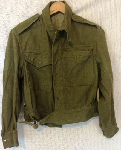British Denim Overalls Blouse Jacket WWII Pattern