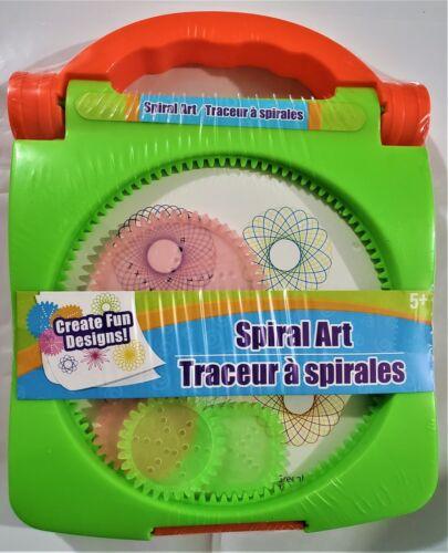 Spiral Art Craft Set Spirograph Stencil Spiral Wheels Compact Travel Kids Toy
