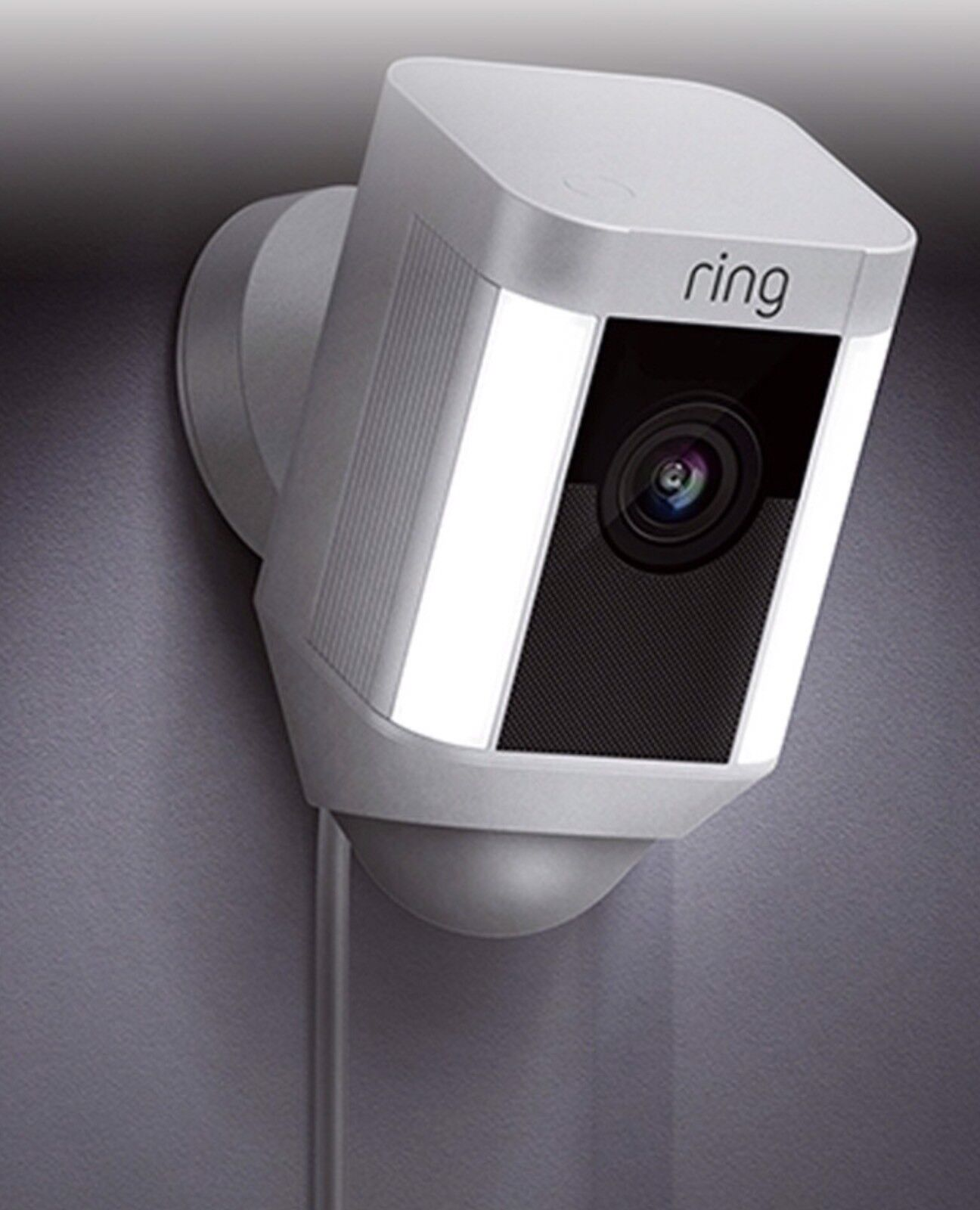 White Ring Spotlight Outdoor Security Camera 8SH1P7-WEN0 Wired
