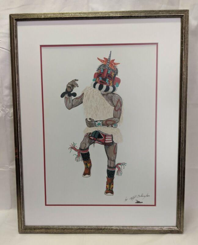 Vintage Hopi Artist CLIFFORD BAHNIMPTEWA Watercolor Kachina Painting