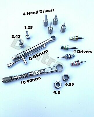 Dental Implant For Straumann 0-45 Torque Wrench Ratchet 10-40 Ncm Driver Set