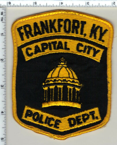 Frankfort Police (Kentucky) uniform take-off patch - new from the 1980