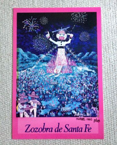 1988 Zozobra de Santa Fe, Michael Ives signed and dated, Kiwanis of Santa Fe