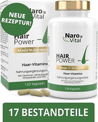 Haar Vitamine - Mit Biotin & Hirse 120 Kapseln Haarausfall Baartwuchs Haarwuchs
