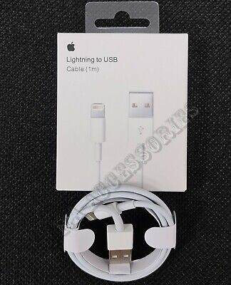 Genuine Apple 1m Lightning to USB Charging Lead Cable For iPhone 5c 6 7 8 XS MAX