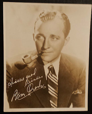 Vintage Film Star Photograph: BING CROSBY with Org Hand Signed Letter