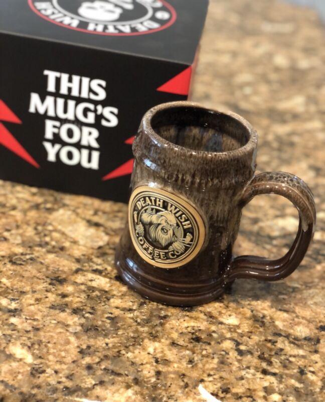 Death Wish Coffee Mug Sasquatch Bigfoot Mythical Legend Limited Edition Rare LE