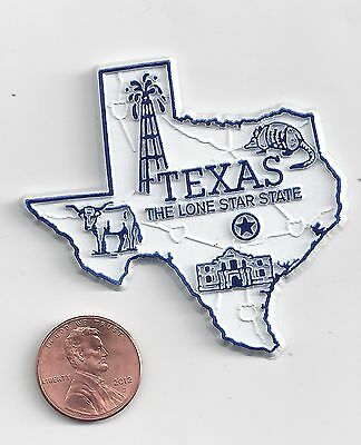 TEXAS  TX    THE LONE STAR  STATE OUTLINE MAP MAGNET  NEW