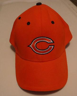 Chicago Bear Orange Baseball Hat/Cap Rear Back Adjustment NFL Football (Hat Baseball Football Cap)