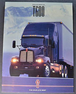 1996 Kenworth Truck Model T600 Catalog Sales Brochure Excellent Original 96