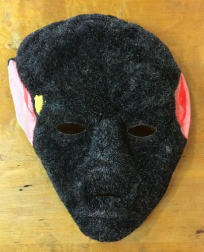 Vintage & Unused Rare Werewolf Wolfman Fully Flocked Collegeville Halloween Mask