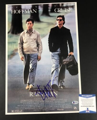 DUSTIN HOFFMAN SIGNED 12X18 PHOTO AUTHENTIC AUTOGRAPH BAS BECKETT COA TOM CRUISE