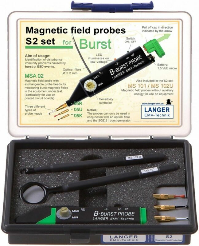 Langer EMV S2 Set - Magnetic Field Probes (For E1 Set) EMC Tools and Probes