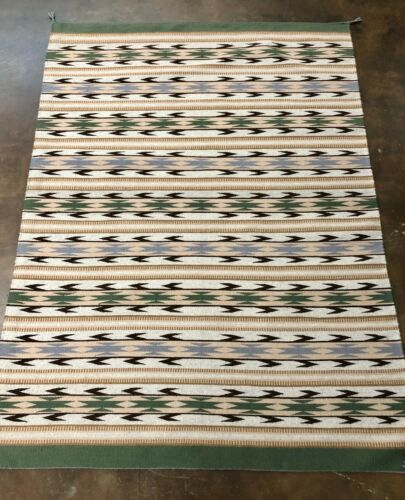 A Good Size Navajo Handmade Textile With Beautiful Neutral Colors