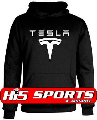 TESLA Hoodie Tesla Motors Electric Car ADULT Sizes S-5XL Hoodie Various -