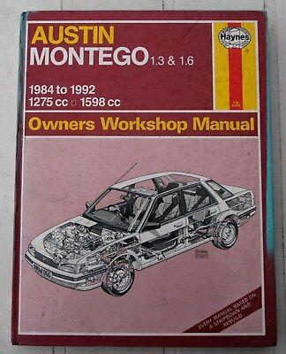 Haynes workshop manual 1066 Austin Montego 1.3 & 1.6 litre