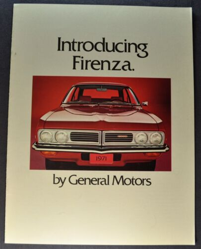 1971 GM Firenza Catalog Sales Brochure Vauxhall Excellent Original 71 Canadian
