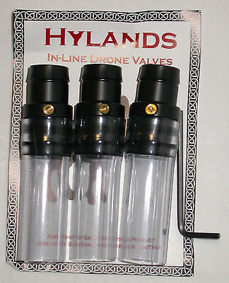 Bagpipe Hylands In-Line Drone Valves set of 3 for sale  Saskatoon