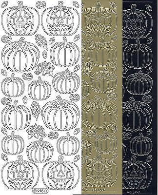 Starform Outline Stickers N° 918 Citrouille Halloween Pumpkin Auto-collants - Halloween Pumpkin Outline