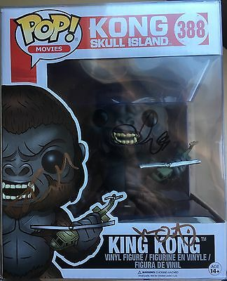 "Funko Pop Signed Brie Larson Autograph King Kong: Skull Island 6""  Figure Movie"