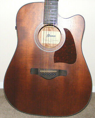 Ibanez Artwood AW54CE Open Pore Natural Acoustic Guitar