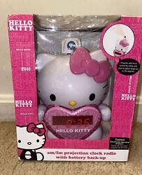 Hello Kitty AM/FM Projection Alarm Clock Radio Sanrio NEW IN BOX KT2064 2012