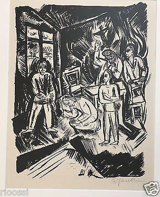 Richard Janthur Original Lithographie von 1919 Ed.100 signiert 41x31cm
