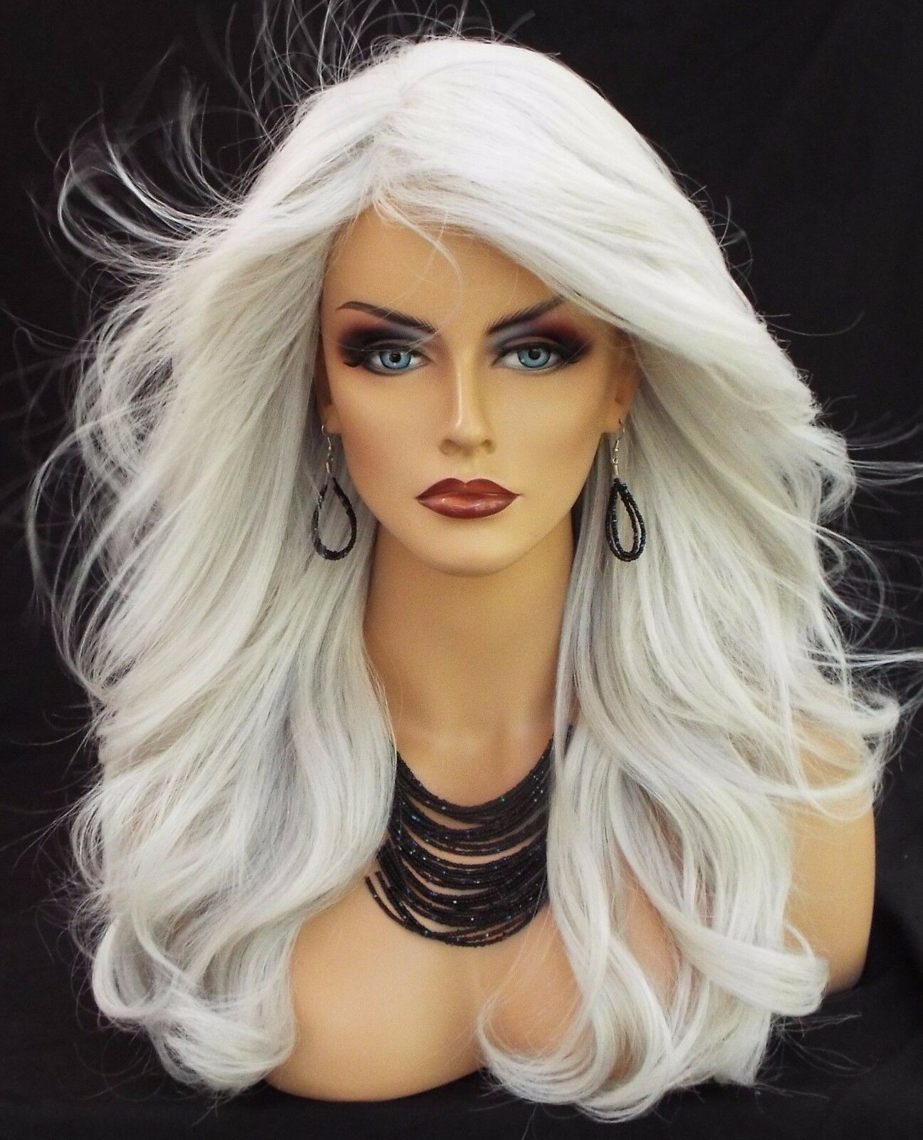 Long Wavy Heat Friendly Wig Color 60 White Grey Gorgeous Sexy Long Usa 446 Ebay