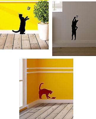 Wandtattoo, Aufkleber, Katzen, Katze, Schmetterlinge, Mäuse