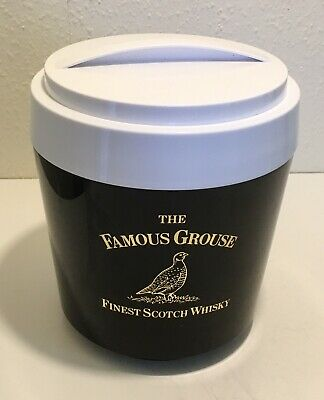 Vintage Famous Grouse Advertising Ice Bucket